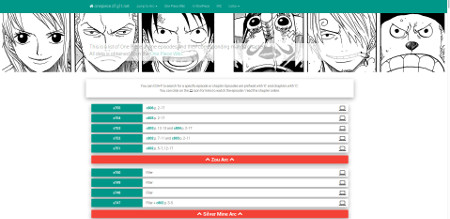 One Piece Anime/Manga Conversion List